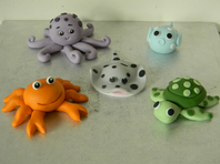 Sea Creatures Cake Toppers